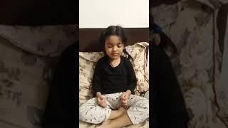 3-year-old doing meditation