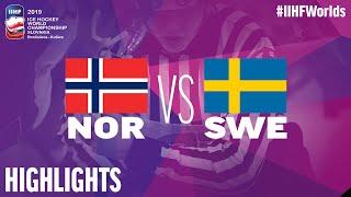 Norway vs. Sweden - Game Highlights - #IIHFWorlds 2019