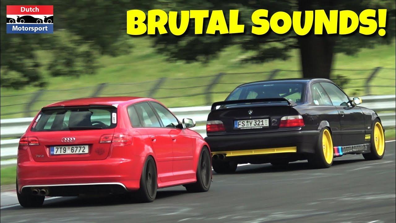 500hp Audi Rs3 At Nurburgring Brutal Sounds