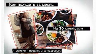 Похудеть на 30 кг за месяц| Моя история похудения