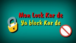Lock ya block status | Haryanvi lock ya block WhatsApp status Vijay verma