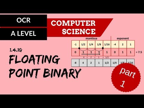 OCR A'Level Floating point binary - Part 1