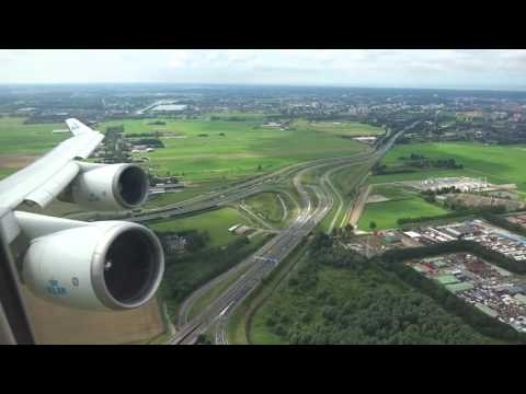 KLM 747-400 - Amazing takeoff from Amsterdam to O'Hare