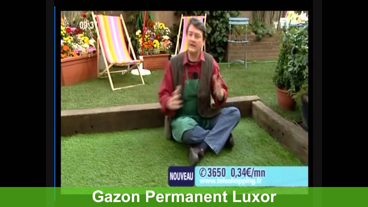 gazon permanent luxor gazon synth tique artificiel haut de gamme youtube. Black Bedroom Furniture Sets. Home Design Ideas
