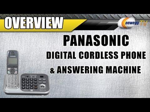 Newegg TV: Panasonic 1.9 GHz Digital Cordless Phones Integrated Answering Machine Overview