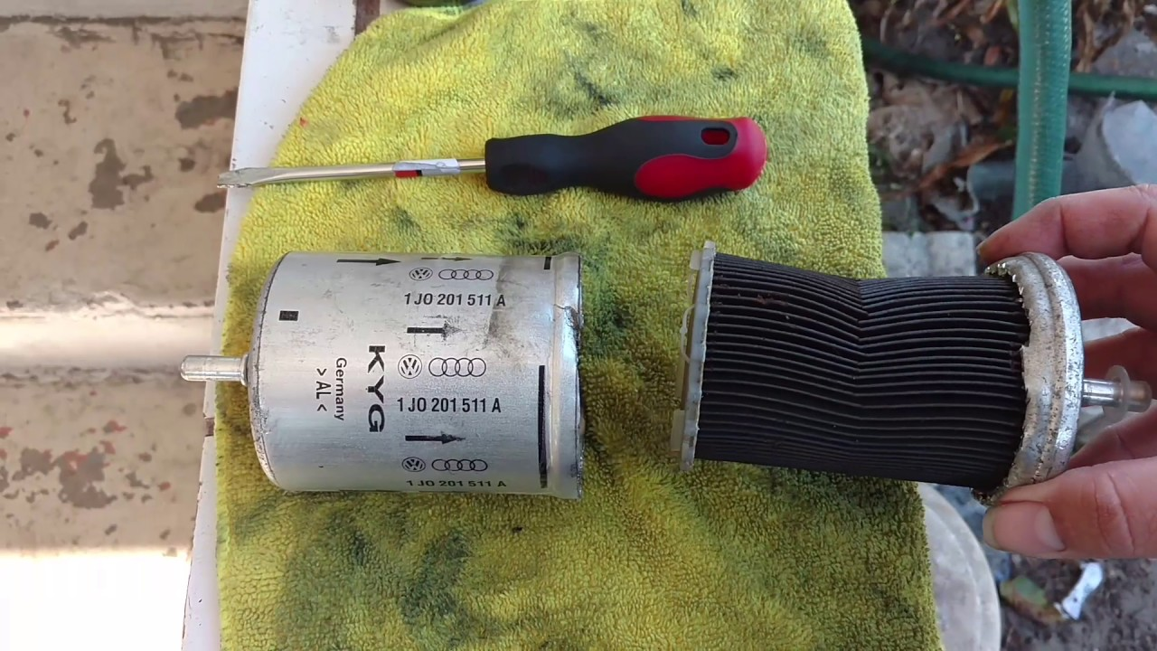 Fuel Filter Taken Apart Off Of A 2002 Volkswagen Jetta 18 Turbo Vw Location