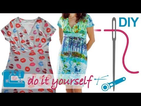 DIY Kleid nähen für Anfänger – Kleid in Wickeloptik – Zierstoff ...