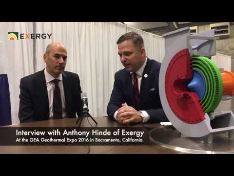 Interview Anthony Hinde of Exergy at GEA GEOEXPO+ 2016