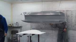 MHZ Mystic 1850 - professional hull painting and finish