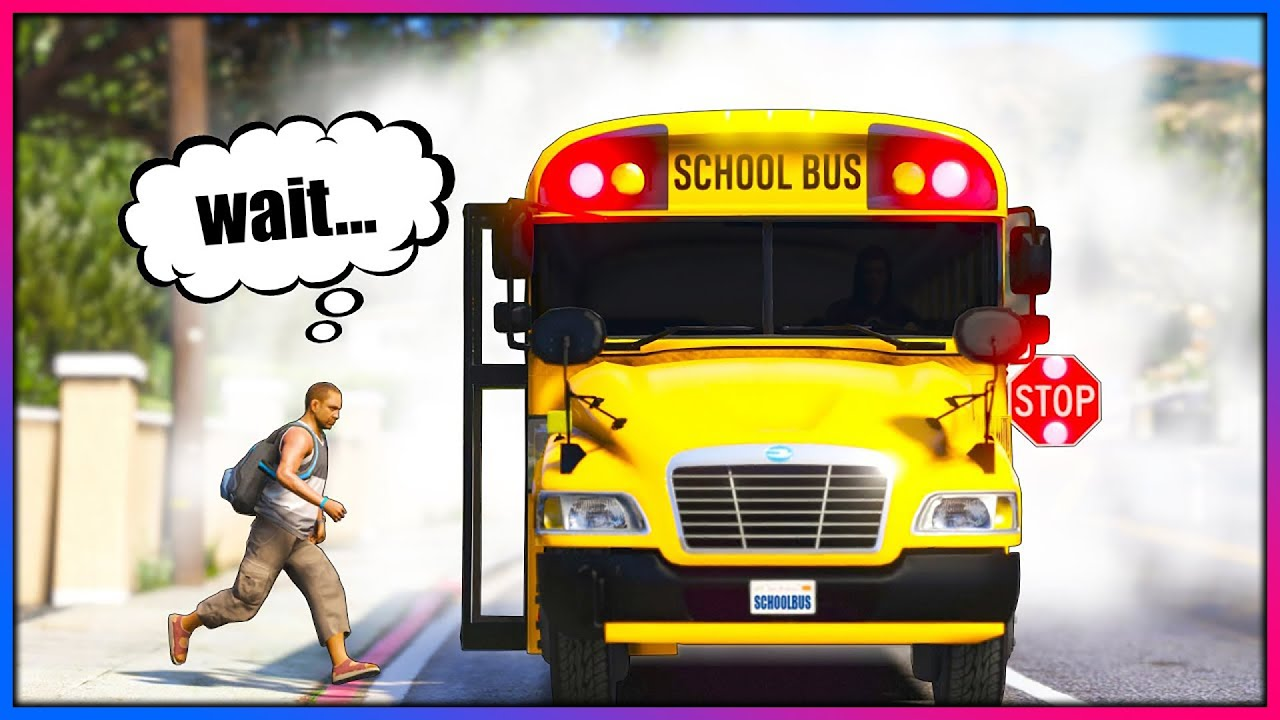 Playing as the FASTEST School Bus Driver!! (GTA 5 Mods)