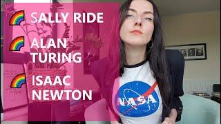 Naukowcy LGBT+ [ Sally Ride / Alan Turing / Isaac Newton ] 🌈 #dajżyć || PINK 🧠 ||