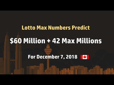 Winning number predict Lotto Max - Dec 7, 2018