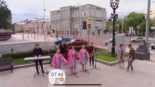 """BACKSTAGE Girls'BAND в программе """"Доброе утро"""" на Первом канале"""