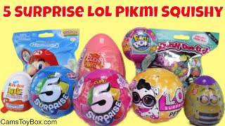 5 Surprise LOL Pets Pikmi Pops Nintendo Squish Dee Lish Blind Bags Toys Kids Fun Opening