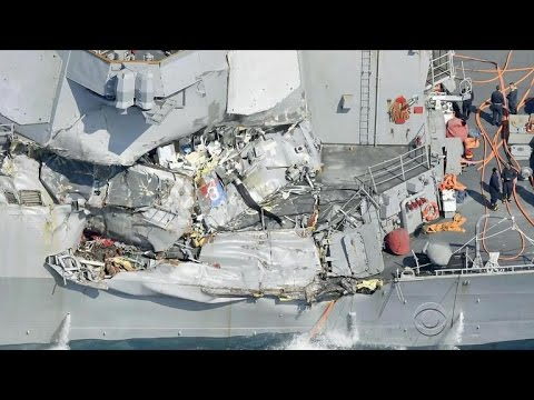 American sailors missing after U.S. Navy destroyer collision