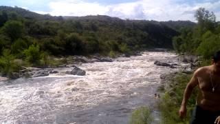creciente arrastra personas heavy flash flood swet away people cuesta blancacordobaargentina