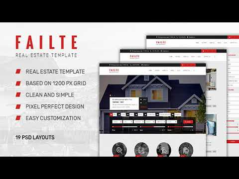 Failte — Sale & Rent Real Estate PSD Template | Themeforest Website Templates And Themes