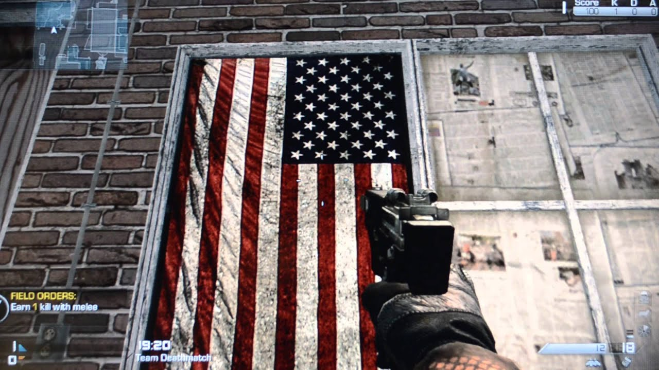 call of duty hangs the american flag backwards mistake. Black Bedroom Furniture Sets. Home Design Ideas
