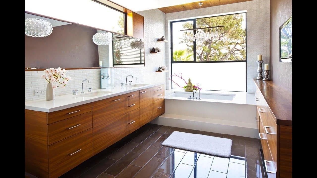 Mid Century Bathroom Vanity - YouTube