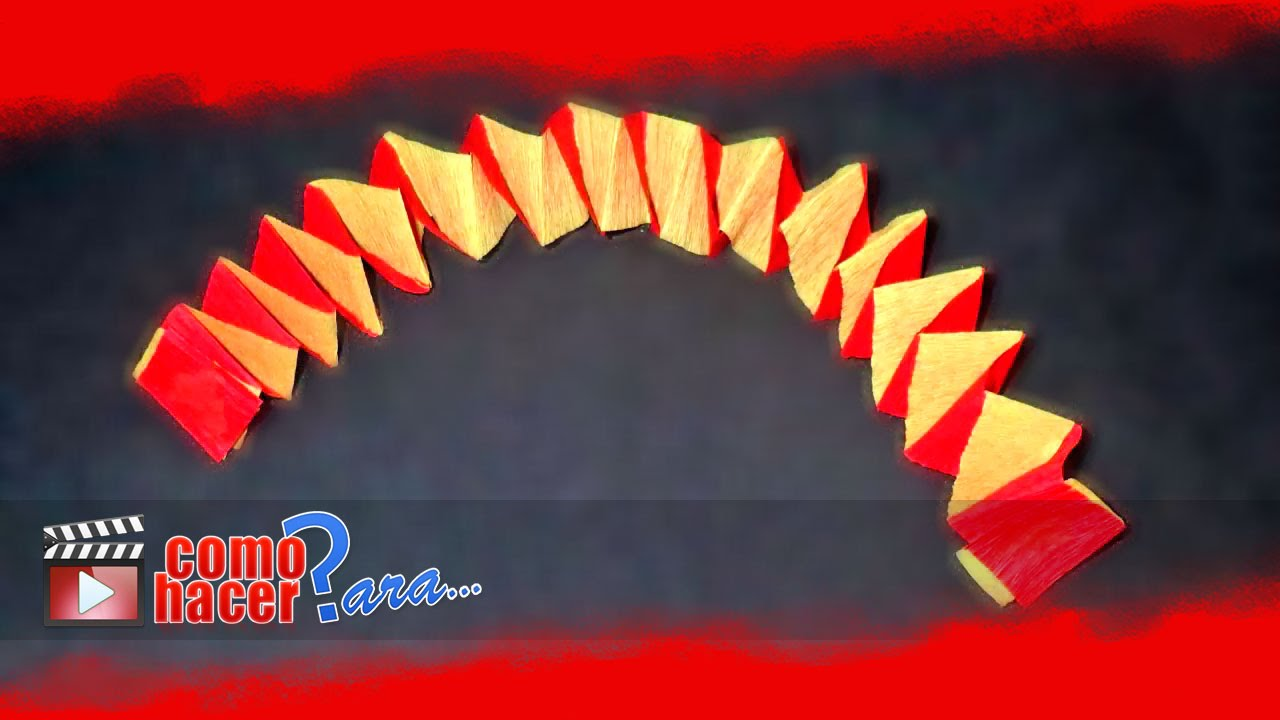 C mo hacer guirnaldas cruzadas de papel youtube - Como hacer cadenetas de papel para fiestas ...