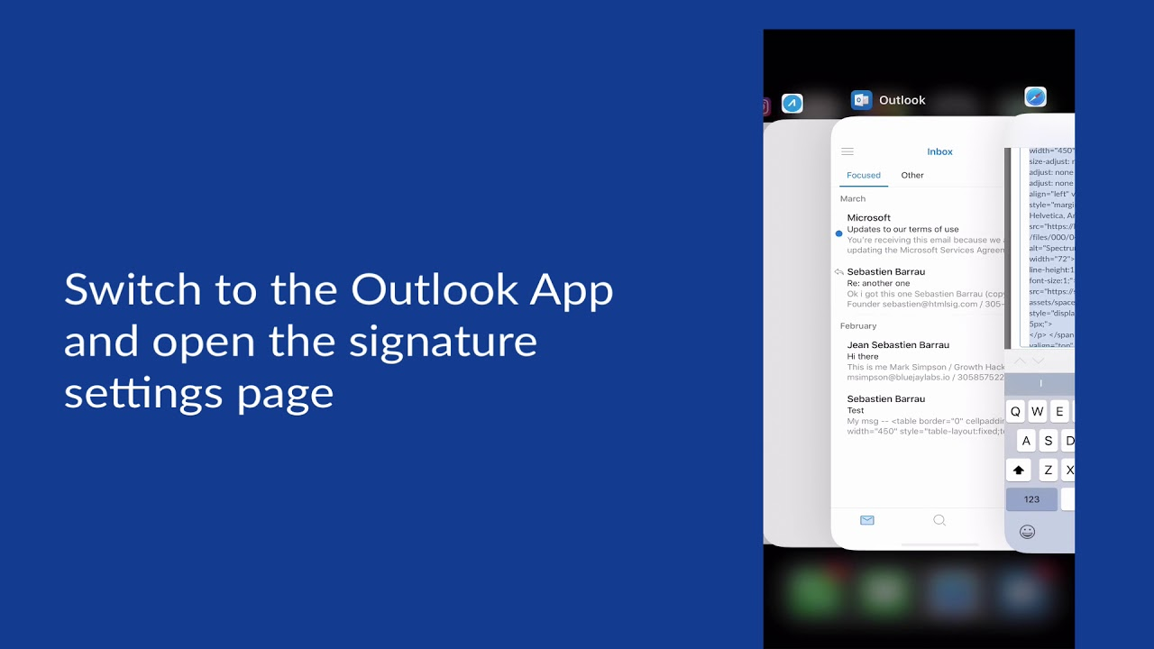 create html email signature iphone