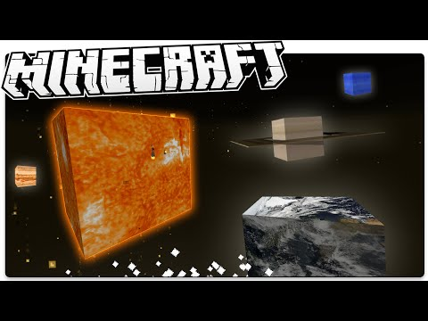 See The Solar System In Minecraft, Like Never Before! (Minecraft Custom Command / Map)