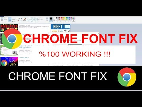 Chrome Blurry Pixelated Font Problem FIX ! %100 WORKING