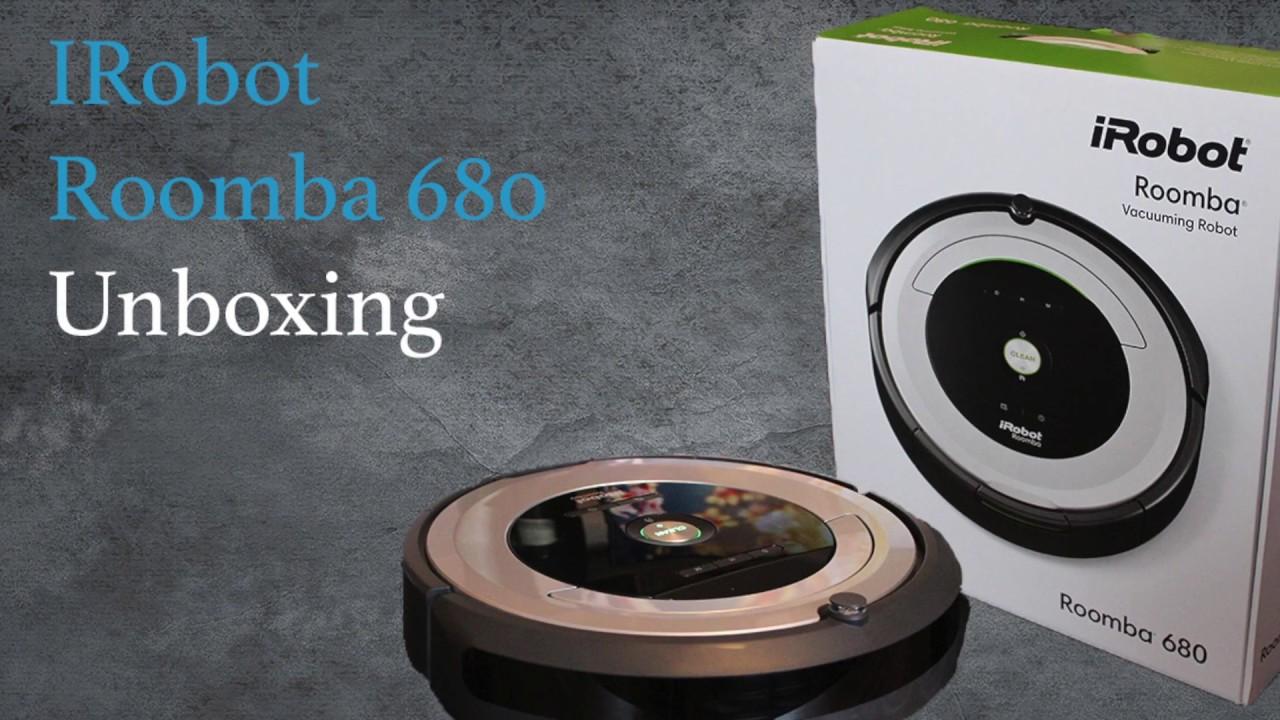 irobot roomba 680 unboxing youtube. Black Bedroom Furniture Sets. Home Design Ideas