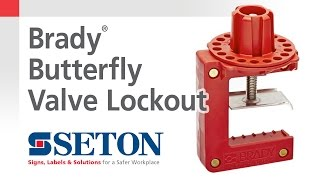 How to Install A Brady® Butterfly Valve Lockout Device | Seton Video
