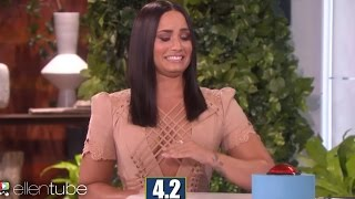 Demi Lovato FAILS At R-Rated 5 Second Rule On Ellen