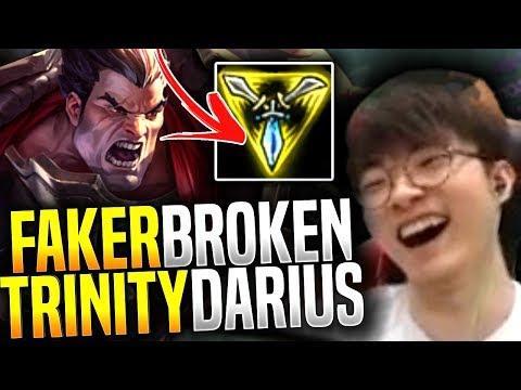 Faker Trinity Force Darius Is Broken! - SKT T1 Faker Picks Darius Mid! | SKT T1 Replays
