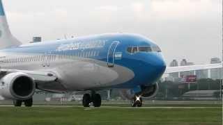 LV-CTC - Aerolineas Argentinas - Despegando de Aeroparque - [HD]