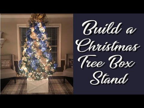 DIY Christmas Tree Stand Box out of wood
