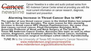 Alarming Increase in Throat Cancer Due to HPV