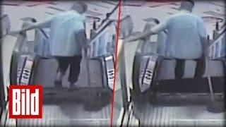 Rolltreppe brutal - Mann verliert Fuß nach Unfall ( China / Handwerk / Sicherheit )