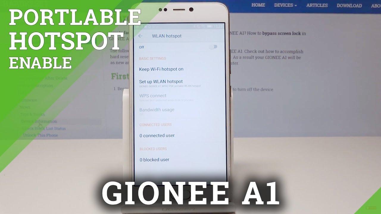 Gionee A1 Lite HotSpot Videos - Waoweo