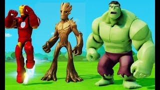 Все серии подряд без остановки Мультик Игра для детей Халк, Железный Человек, Грут и Машинки Disney
