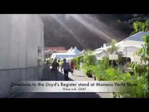 Directions to Lloyd's Register stand at Monaco Yacht Show 2011