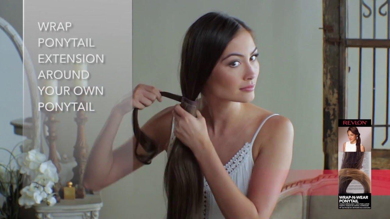 Revlon Ready To Wear Hair Wrap N Wear Ponytail Youtube