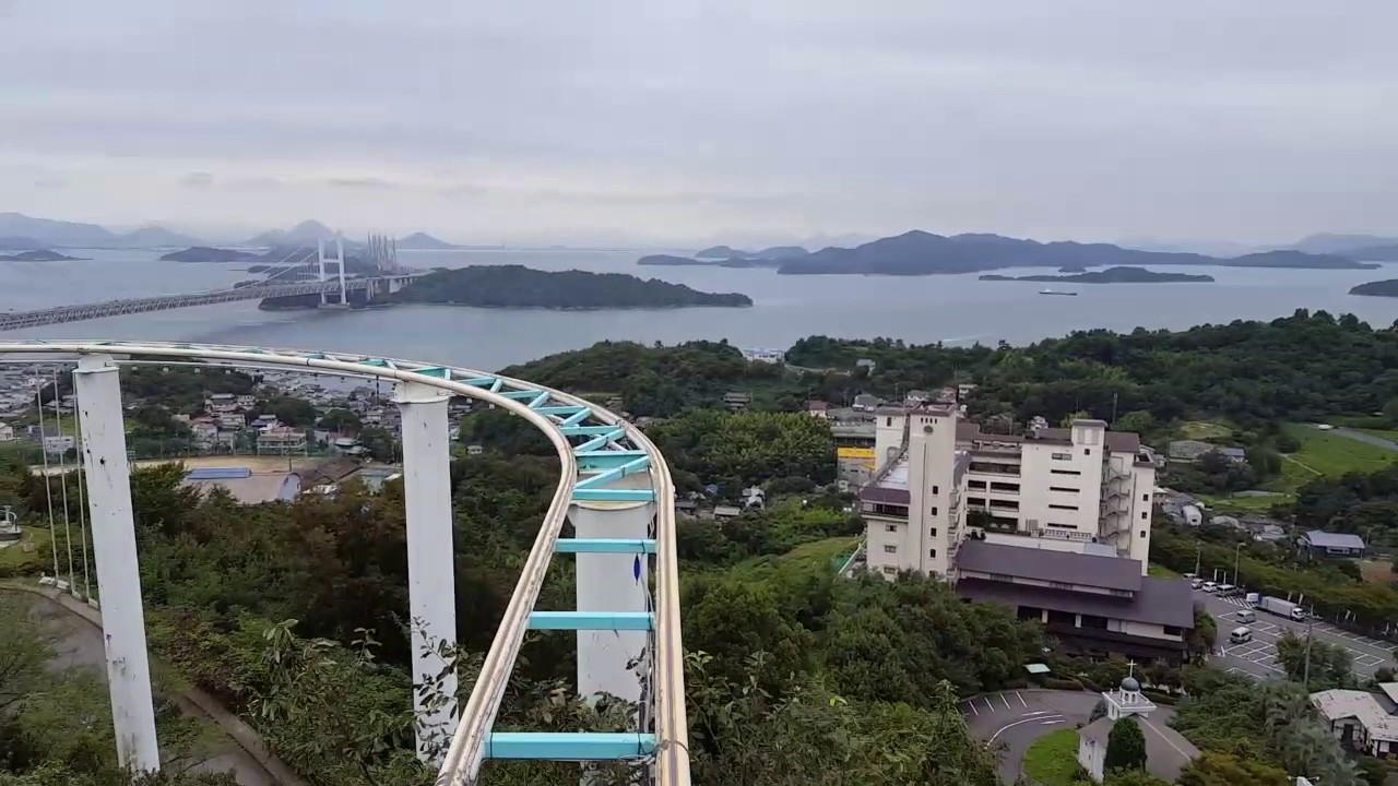 Pedal Rollercoaster Japan YouTube - Pedal powered skycycle rollercoaster japan amazing