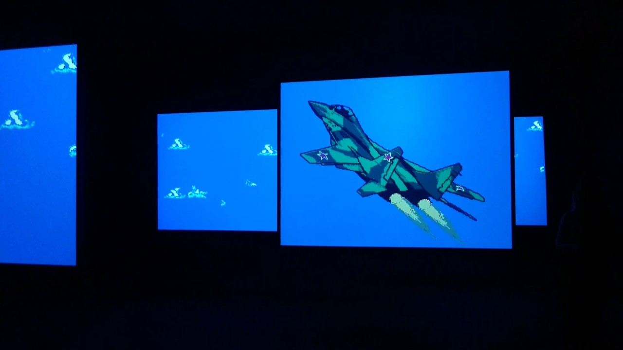 game art: cory arcangel's mig 29 soviet fighter plane and clouds (2005) -  gamescenes