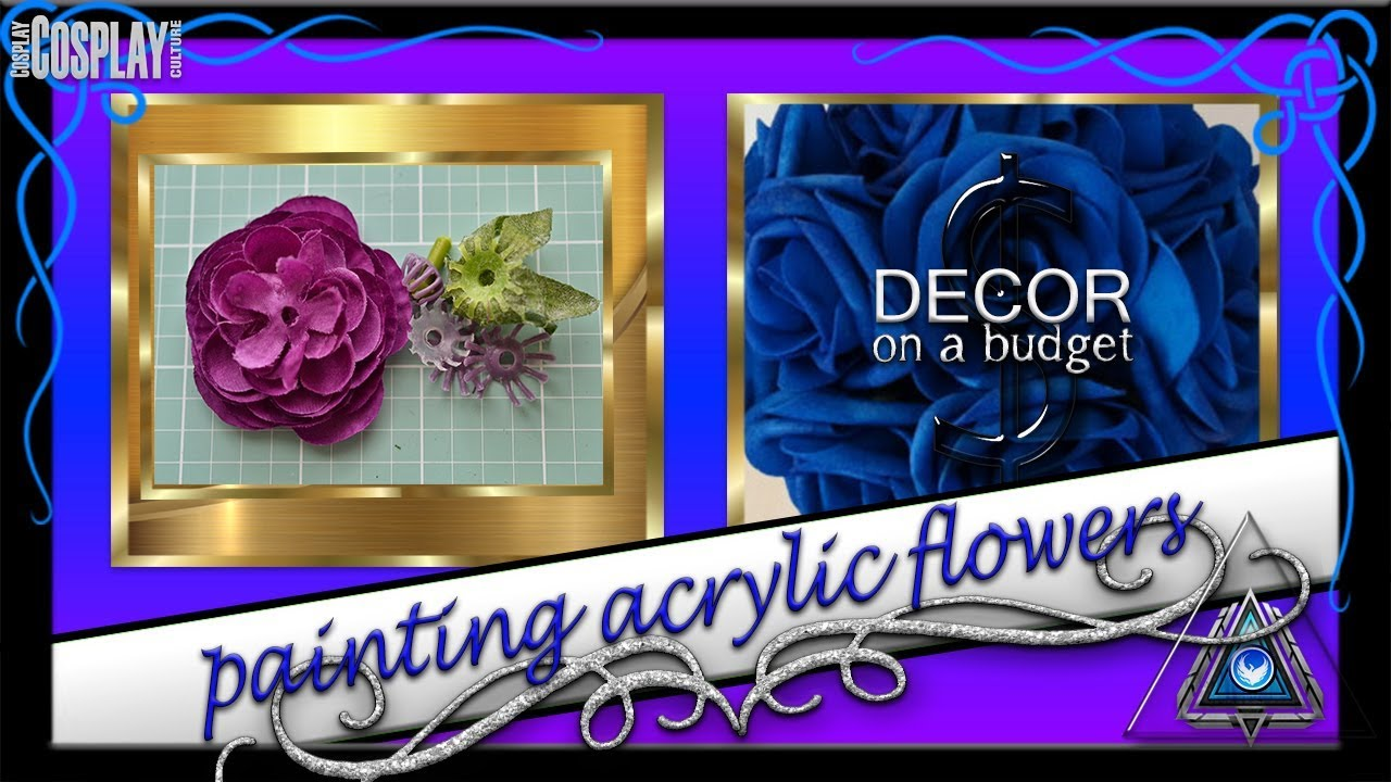 Budget Transformations Painting Silk Flowers 1 Youtube