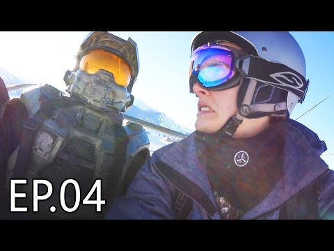 SNOWBOARDING MASTER CHIEF | Living With Chief Ep.04