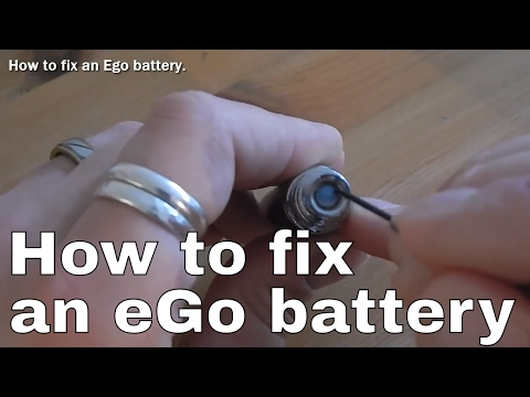 How to fix an Ego battery. (Soulvapes Reviews)