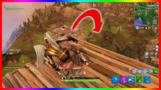 JUMPING OFF THE MAX HEIGHT IN FORTNITE WITH A SHOPPING CART / TROLLEY