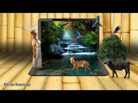 How to design Amazing Laptop View with Photoshop   KHTUBE KNOWLEDGE 2019