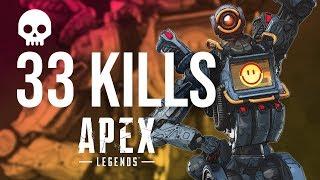 33 killls 360 noscope con el ganchos en apex legends