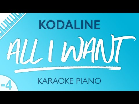 All I Want (LOWER Piano Karaoke) Kodaline