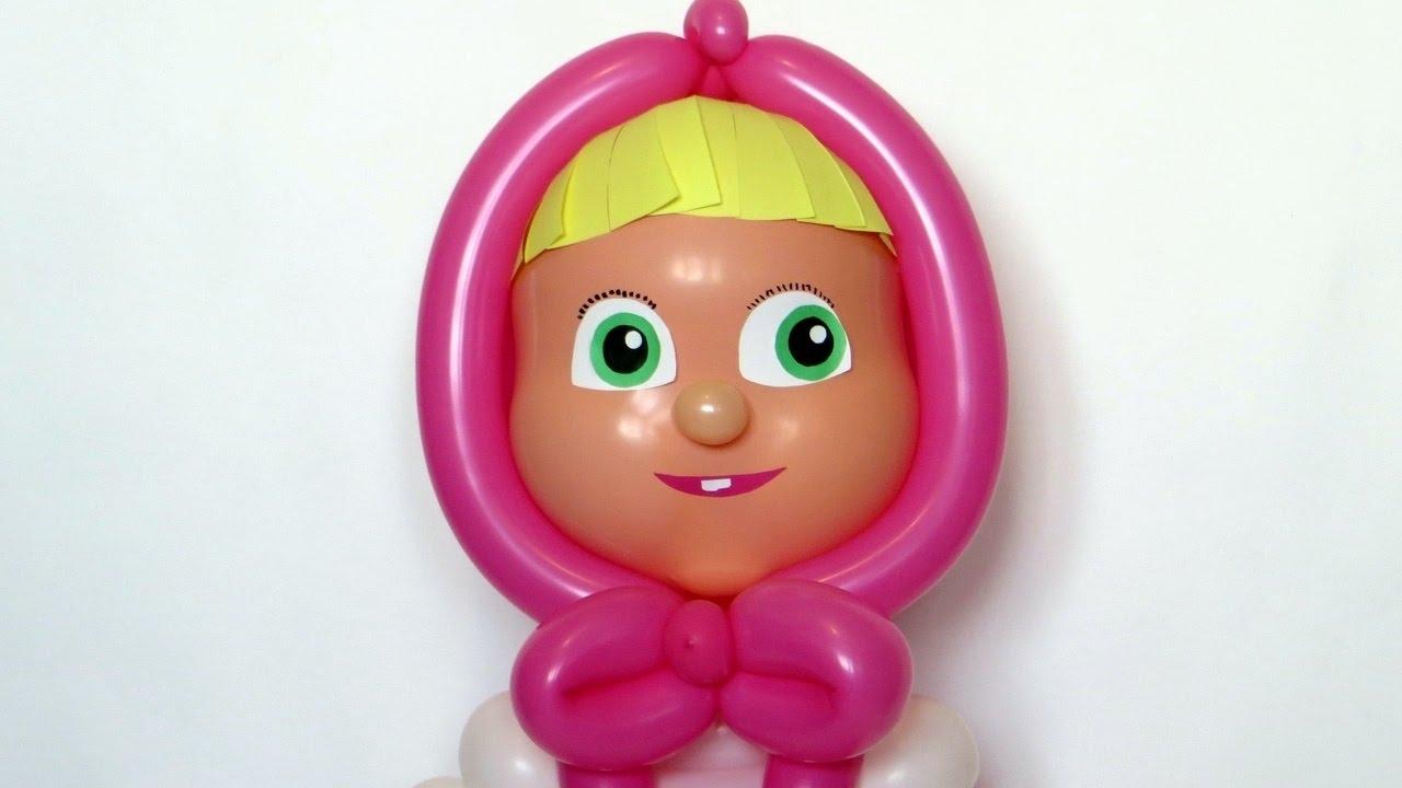 Как сделать машу из шаров фото 352