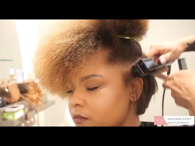 Flat Iron Cut On Short Natural Hair Tutorial Youtube